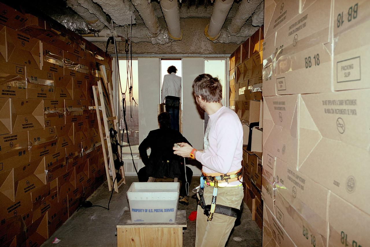 Gelatin's studioin the Lower Manhattan Cultural Council studio at the World Trade Center