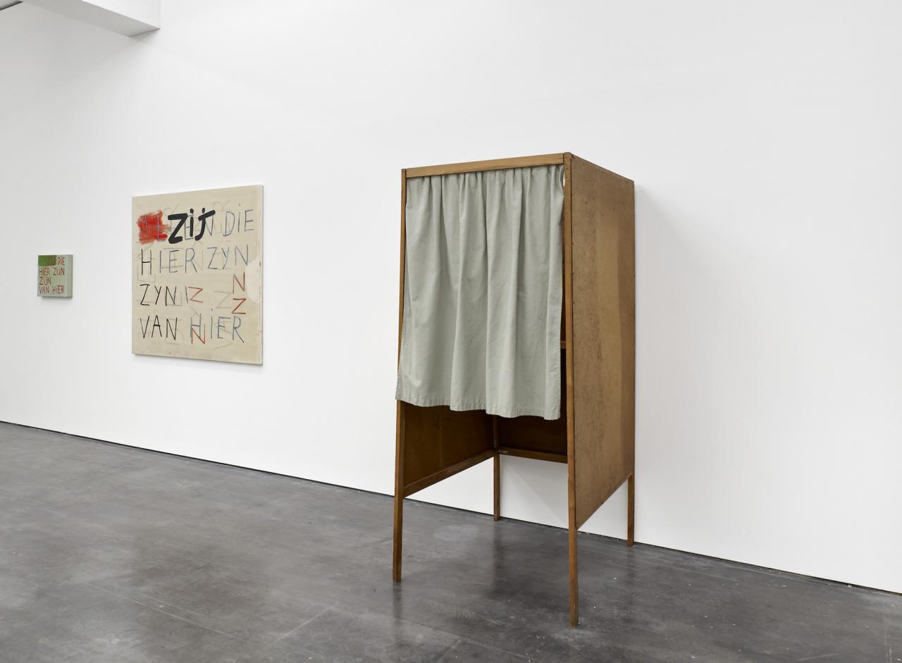 Guillaum Bijl, Walter Swennen, installation view