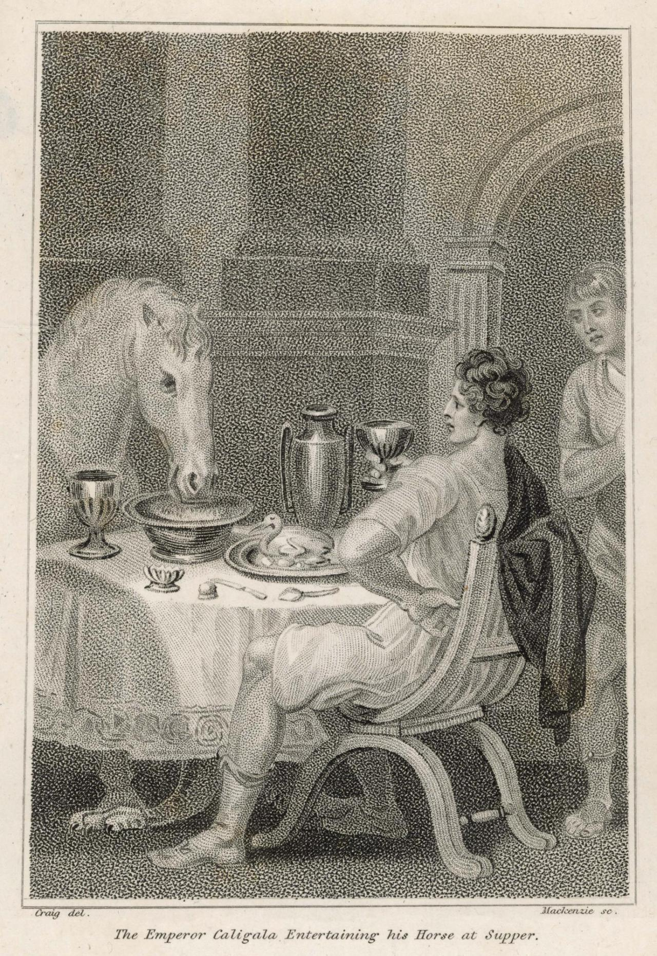 The Emperor Caligula Entertaining his Horse at Supper