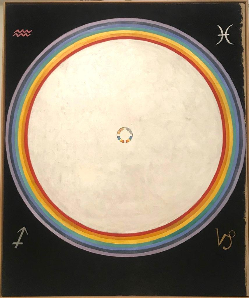 Hilma Af Klint Group IX/UW, No. 38, The Dove, No. 14  (1915)