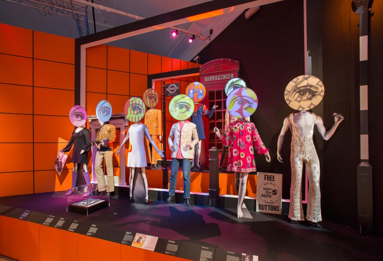 """""""You Say You Want a Revolution? Records and Rebels 1966–1970"""" Installation view at Victoria & Albert Museum"""