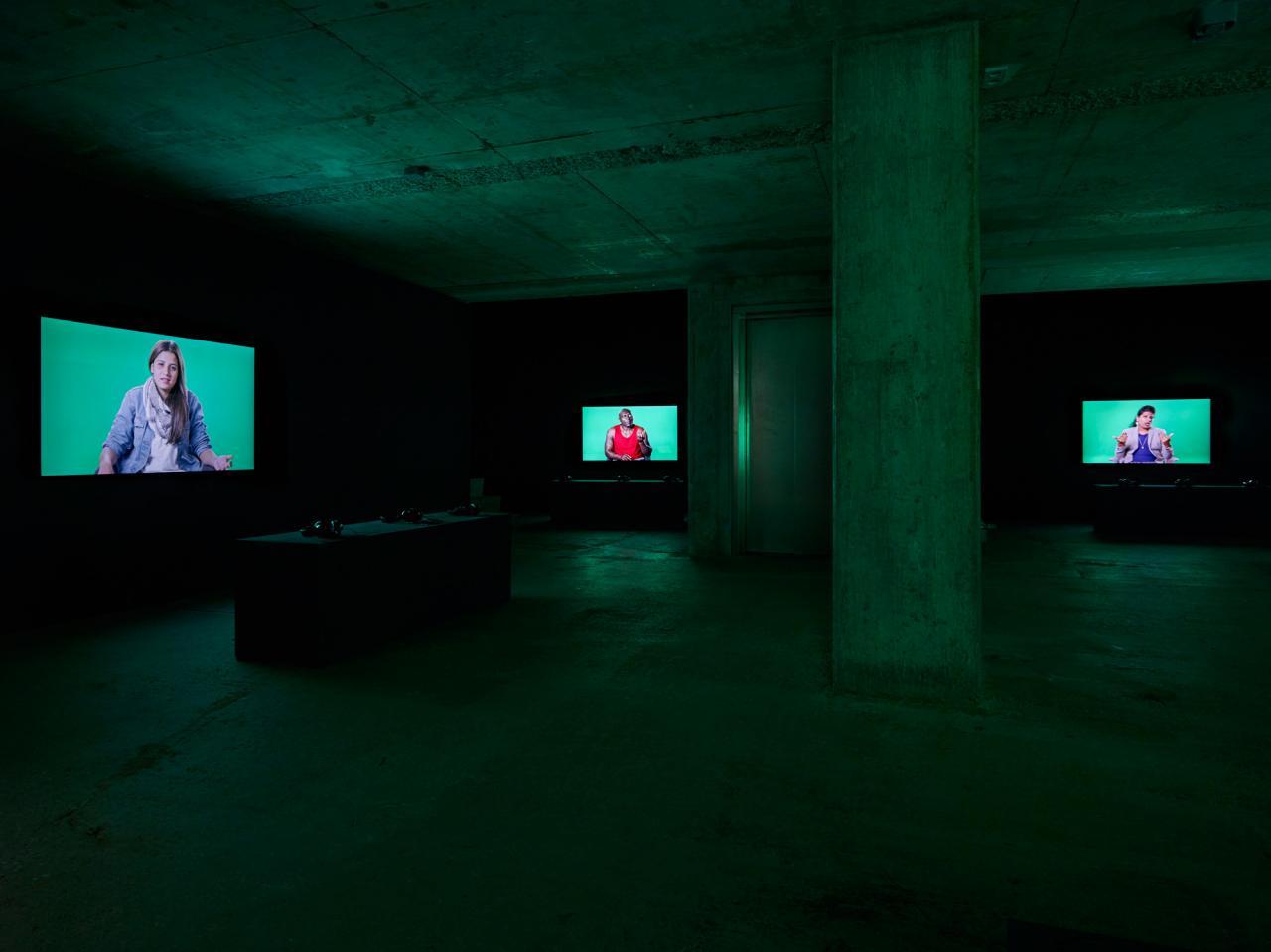 Candice Breitz Love Story (2016, installation view)