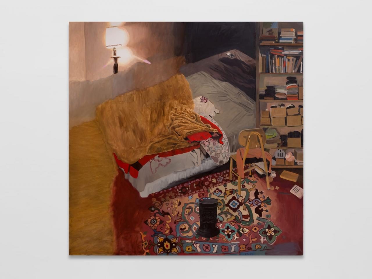 Bed ,2021, Oil on canvas, 177x 177cm