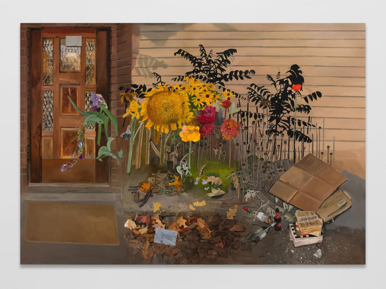 Front Door, 2021, oil on canvas,177x 254 cm