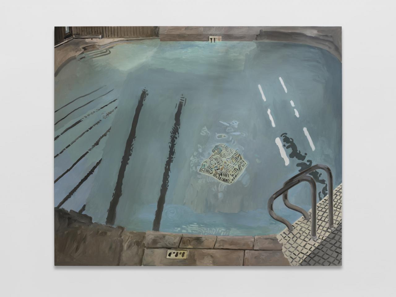 Pool ,2021, Oil on canvas, 177x 213cm