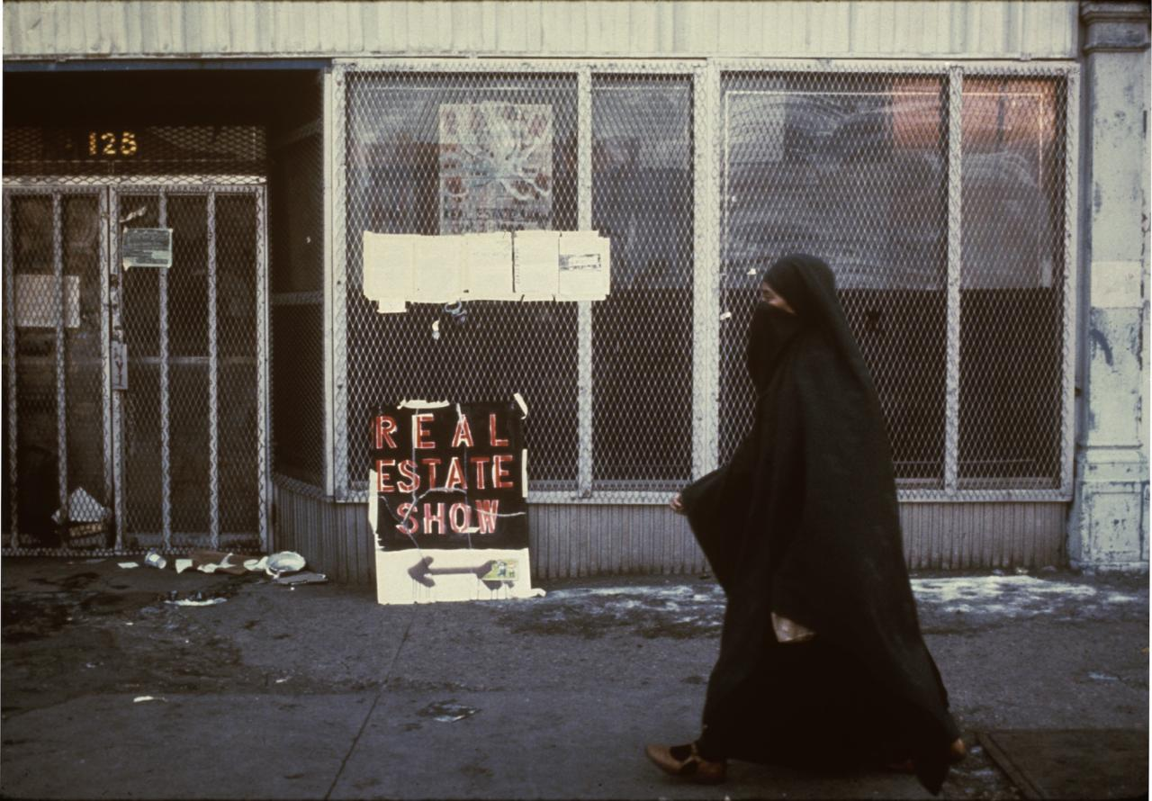 """The Real Estate Show,"" 123, Delancey Street, New York City, 31.12.1979 - 21.1.1980"