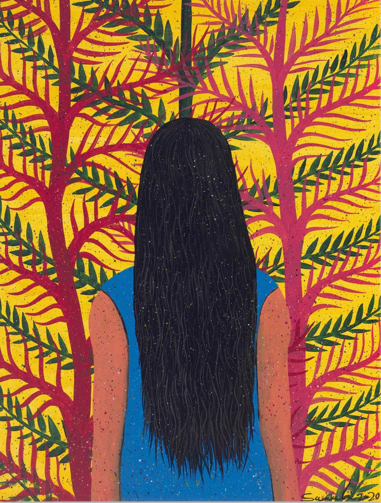 Mostafa Sarabi, Untitled , 2020, Acrylic on canvas, 130 x 95 cm