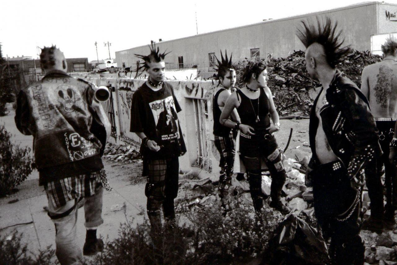 Still from The Decline of Western Civilization , dir. Penelope Spheeriss, 1980