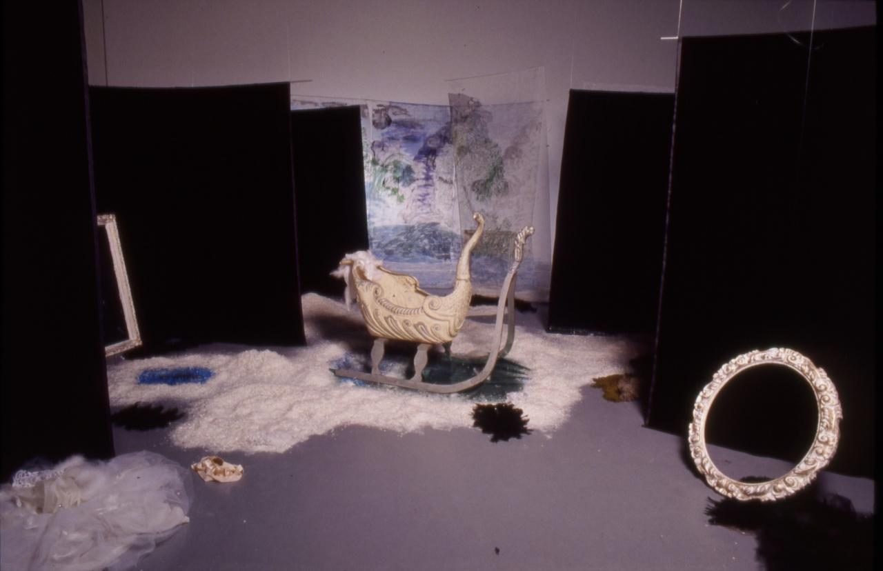 Karen Kilimnik, Swan Lake, 1992 Installation view Deichtorhallen, Hamburg 1993 Photo: Wolfgang Neeb