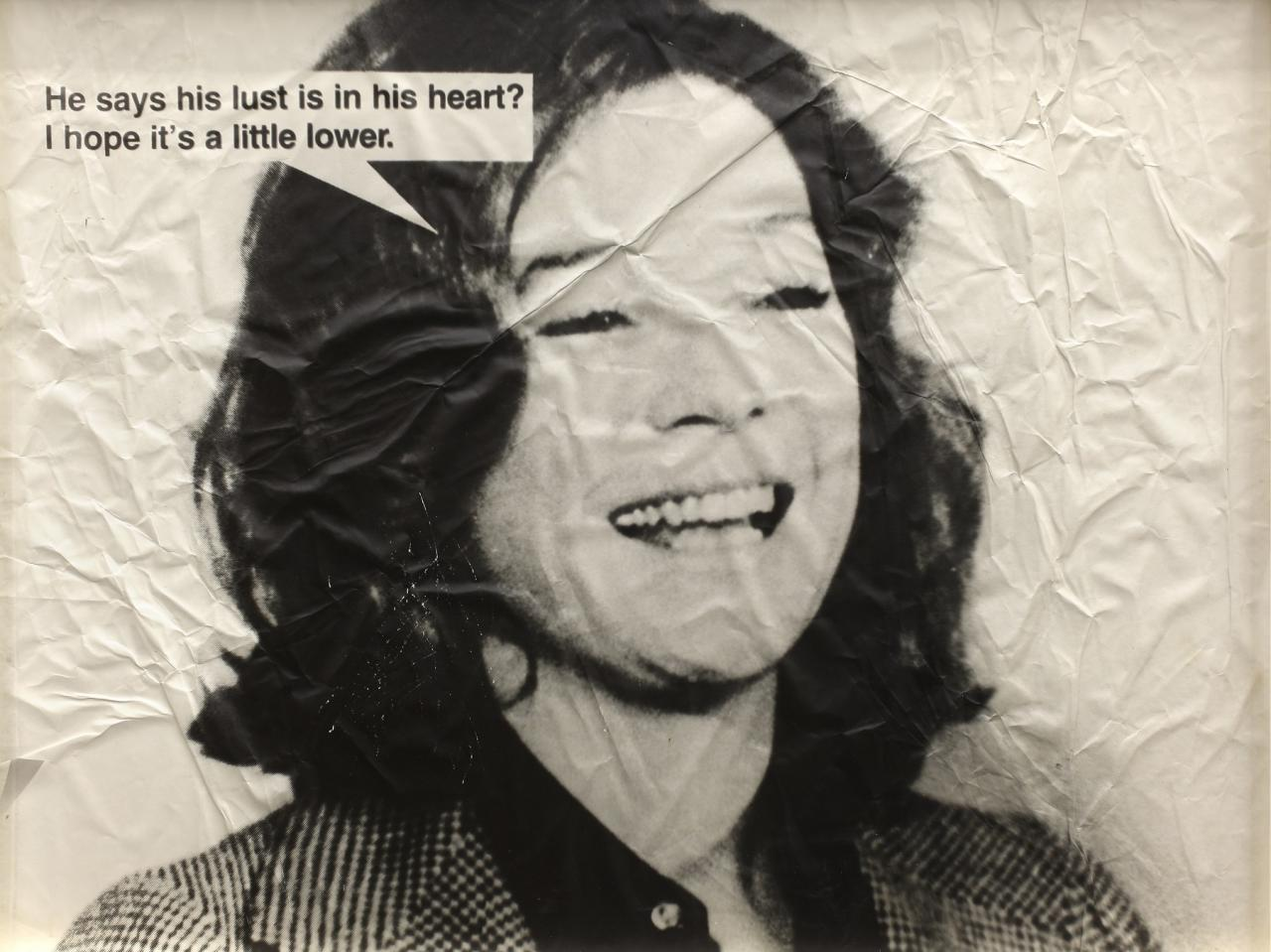 Jokes (Shirley MacLaine) , 1988 Distressed photograph on aluminum  76 x 99 cm Courtesy of Ratio 3, San Francisco