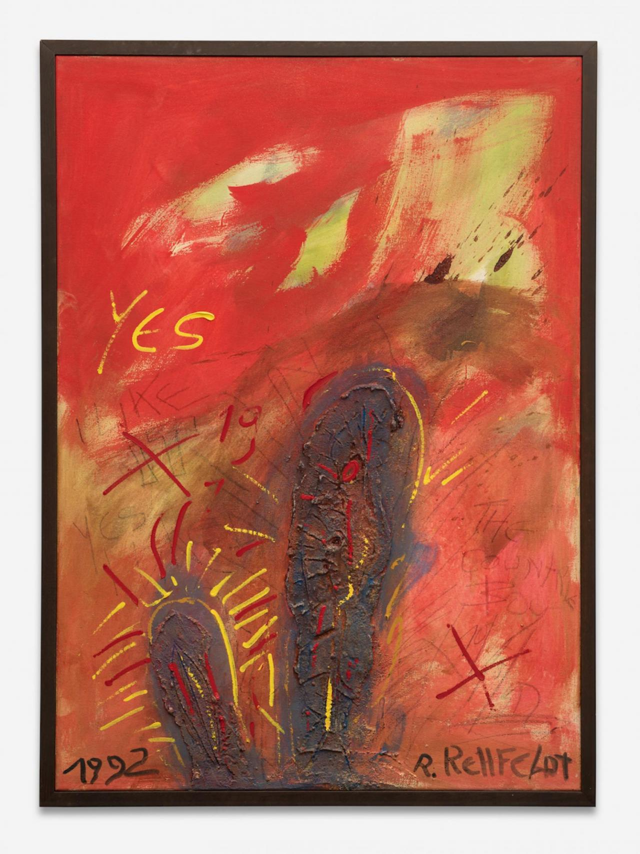 Robert Rehfeldt, Yes , 1992. Paint on canvas, 146 × 106 cm. Courtesy: the artist and ChertLüdde, Berlin. Photo: Trevor Lloyd