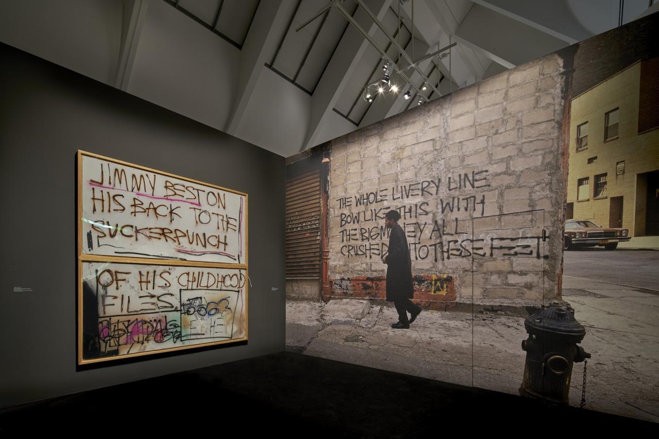 Ausstellungsansicht © SchirnKunsthalle Frankfurt (2018), Kunstwerke: ©VG Bildrecht Wien(2018) & The Estate of Jean-Michel Basquiat,Licensed by Artestar, New York Foto: Norbert Miguletz