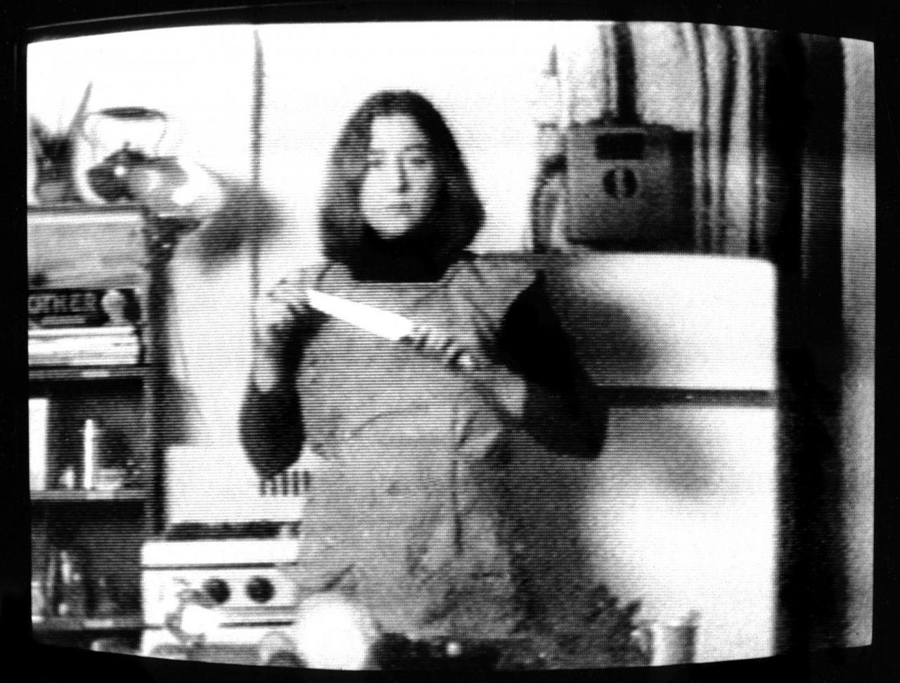 Martha Rosler Semiotics of the Kitchen  (1975, video still)