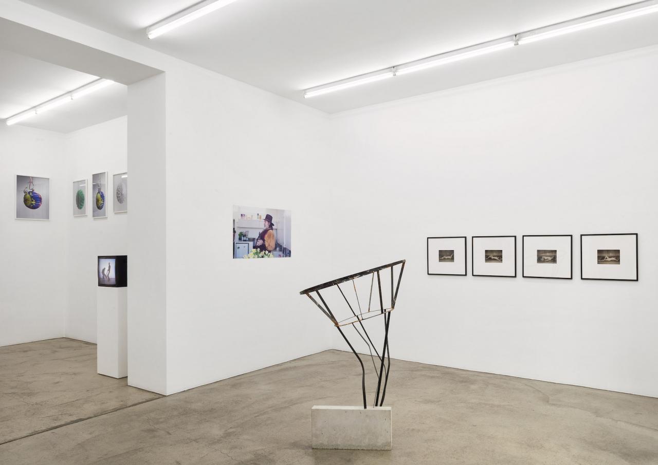 """Installation view of""""Performance – Körper als Kontinuum in der Kunst"""" curated by Georg Elben at Gabriele Senn Galerie Courtesy Gabriele Senn Galerie; Photo: Iris Ranzinger"""
