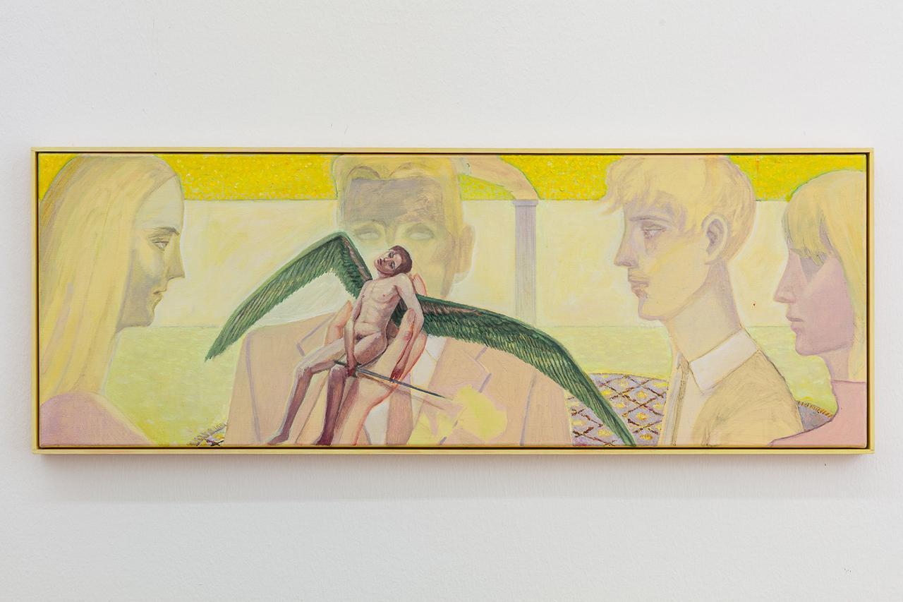 Soshiro Matsubara, Twilight , 2020, oil and acrylic on canvas in artist frame, 33×92×3cm