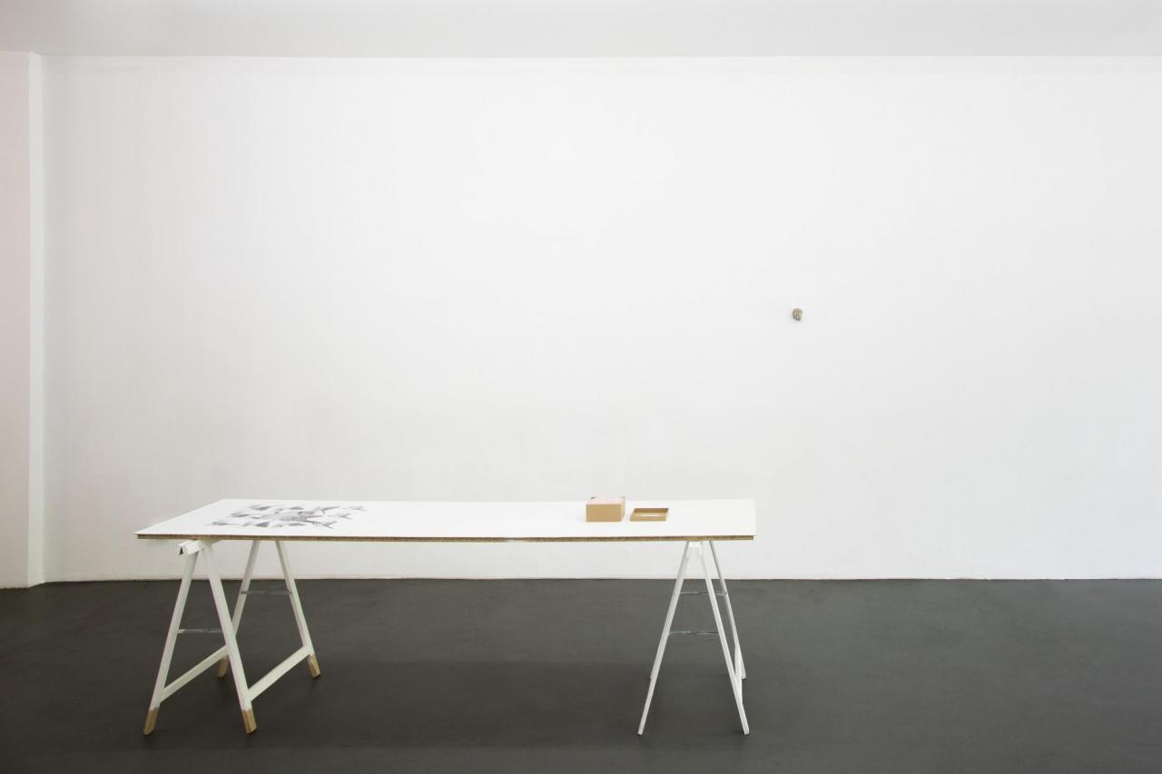 Table with Simon Denny and Nina Beier