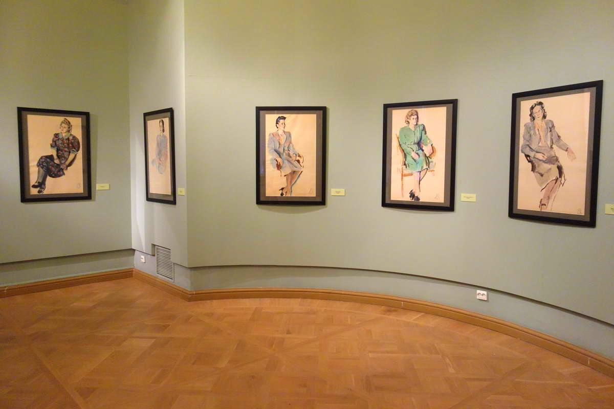 Vladimir Konashevich Ausstellungsansicht Michaelsburg