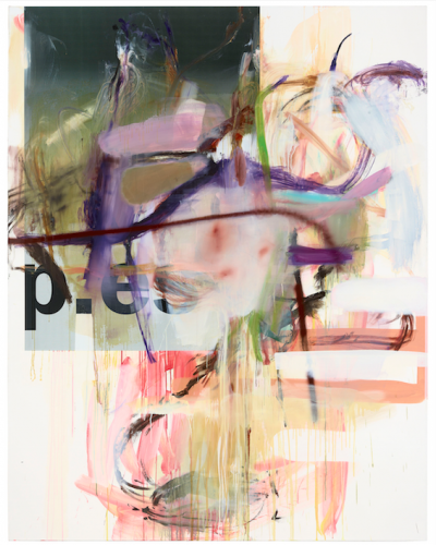 """""""Untitled"""", 2012; Oil, paper on canvas, 230x 180cm"""
