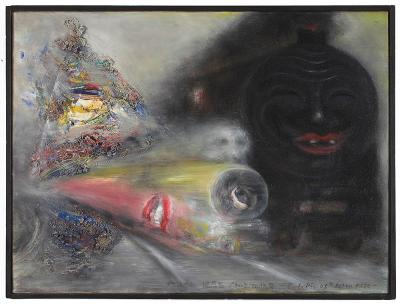 Overtime (Black Fate) , 2008 Oil on canvas, 46 x 61 cm