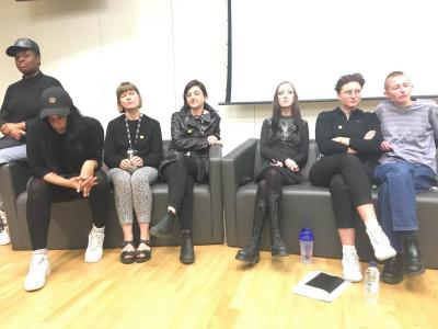 "Speakers at ""Finding the Body: The Last Transgression"" Hannah Black, Evan Ifekmya, Cadence Kinsey, Patricia McCormack, Hannah Quinlan & Rosie Hastings, Guilia Smith"
