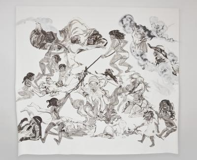 Kara Walker The Pool Party of Sardanapalus (after Delacroix, Kienholz)  (2017)