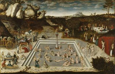 Lucas Cranach the Elder, The Fountain of Youth, 1546. Lime panel, 122.5 x 186.5 cm