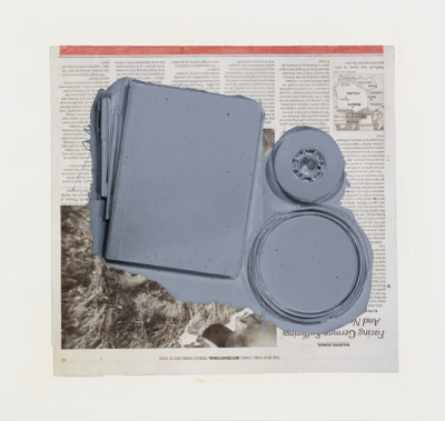 Paul Sietsema, Untitled figure ground study (facing German suffering), 2011 Tinte und Lack auf Papier