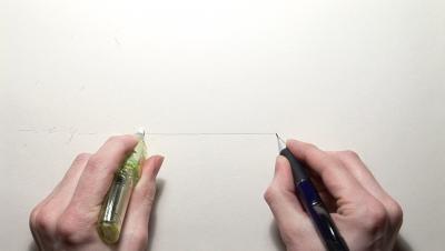 Pencil/Line/Eraser, John Wood and Paul Harrison, 2008, CourtesyCristin Tierney Gallery