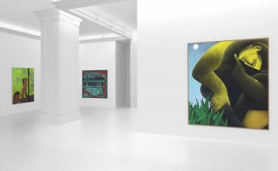 """Installation View """"what fruit it bears"""" December 4 – January 15, 2021 Peres Projects, Berlin"""