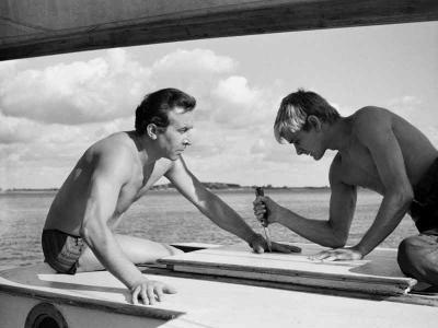 Film still, Roman Polanski's Knife in the Water (1962)