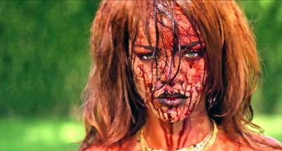 """Still from Rihanna's intentionally controversial video """"BBHMM"""""""