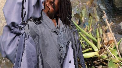 Sandra Mujinga, Stretched Delays  (I), 2017. HD video, 13'