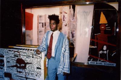 Jean-Michel Basquiat at Area, New York (1994)