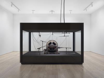 Kevin Beasley A View of a Landscape: A cotton gin motor (2012-18) Photo: Ron Amstutz