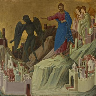 Duccio di Buoninsegna,  The Temptation of Christ on the Mountain , 1308–11