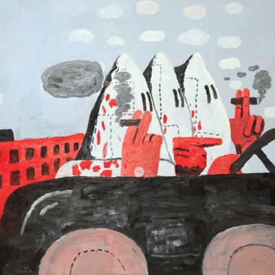 Philip Guston, Riding Around , 1969.