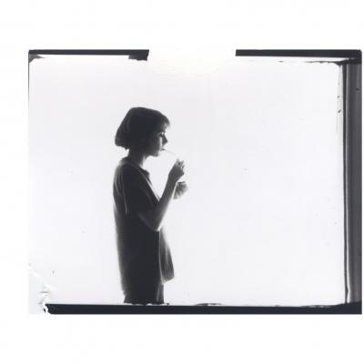 """Moyra Davey, """"Smoking 1"""", 1987/2016, silver gelatin print, paper size: 28 x 35.5 cm All images: Courtesy Galerie Buchholz, Berlin/Cologne/New York"""