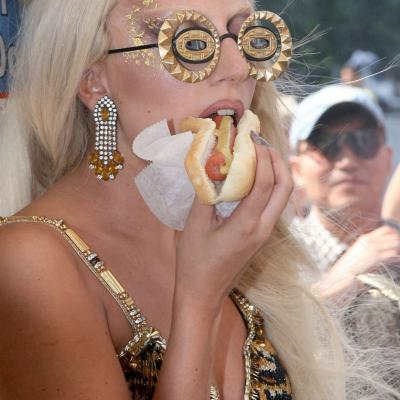 Lady Gag with Hot Dog, Vanity Fair Shoot, New York, 2011