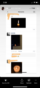 Screen grabs from Yuchen Chang's iPhone, February 2020, Courtesy of the artist