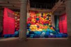 Sheila Hicks, Escalade Beyond Chromatic Lands , 2017 Installation view, Arsenale, Venice Biennale Photo: Cristobal Zanartu © VG Bild-Kunst