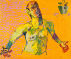 Martin Kippenberger Untitled (from the series The Raft of Medusa), 1996, Oil on canvas, 150 cm x 180 cm © Estate of Martin Kippenberger, Galerie Gisela Capitain, Cologne