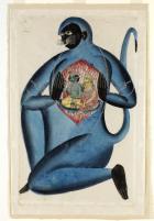 Hanuman Revealing Rama and Sita in his Heart,
