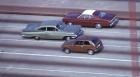 Reversed Car , 1973, '59 Chevrolet and mixed media (crossing Golden Gate Bridge)
