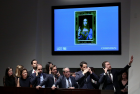 Salvator Mundi  auction at Christie's New York in 2017
