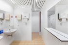 Superflex Power Toilets/Council of the European Union  (2018) Power Toilets / Council of the European Union is designed in close collaboration with NEZU AYMO architects; Courtesy of the artist