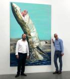 """""""An irgend etwas erinnern mich diese gewaltigen Tiere, ich weiss nur nicht, an was...!"""" (Alexander Schröder und Thilo Wermke, Galerie Neu)"""