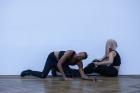 Adam Linder Service No. 5: Dare to Keep Kids Off Naturalism , Kunsthalle Basel, 2017. Performers: Leah Katz, Justin F. Kennedy, Noha Ramadan, Stephen Thompson. Photo: Nicolas Gysin / Kunsthalle Basel