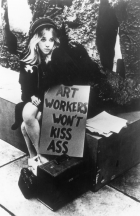 Art Workers Coalition, Art Workers Won't Kiss Ass , performance, 1969