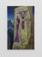 Kye Christensen-Knowles Cronus Contemplating Patricide (2017) oil on canvas,120 × 75 × 4 cm JTT, Lomex,Proyectos Ultravioleta hosted by Greengrassi/Corvi Mora