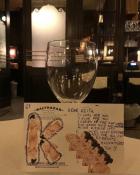 Table 61 on Keith McNally's Instagram, Balthazar, TriBeCa, August 2021